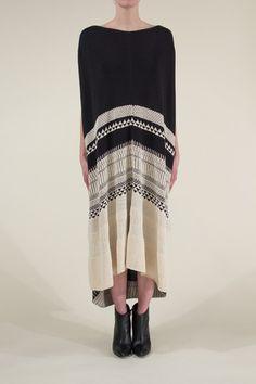 Gary Graham: Jacquard Hand Knit Long Dress