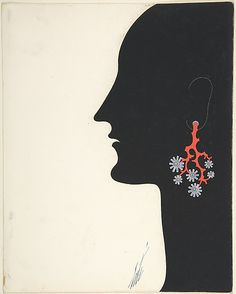 Design for Coral Earrings - 1932. Erté (Romain de Tirtoff)