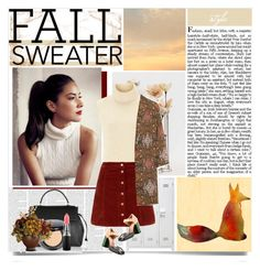 """""""The Fox."""" by cece-cherry ❤ liked on Polyvore featuring moda, Étoile Isabel Marant, Marni, Topshop, Lanvin, MAC Cosmetics, Nearly Natural ve sleevelesssweater"""