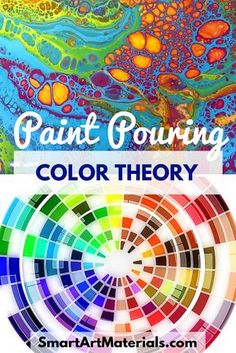Simply amazing acrylic paint pouring ideas - Color Theory for Acrylic Pouring - Must-know principles for the creation of vibrant art. From Smart Art Materials with love - Have fun with diy acrylic paint pouring Pour Painting Techniques, Acrylic Pouring Techniques, Acrylic Pouring Art, Painting Lessons, Acrylic Art, Painting Tutorials, Drawing Tutorials, Art Lessons, Gesso Art