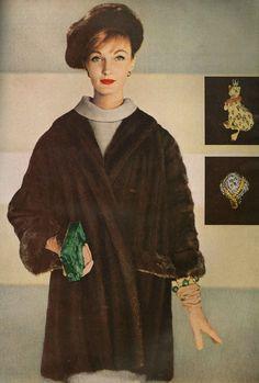 Evelyn Tripp in Maximilian Mink, photo by Louise Dahl-Wolfe