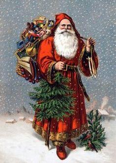 Old Saint Nicolas Christmas Wooden Jigsaw Puzzle