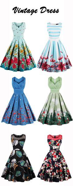 #VintageDress Find more vintage Sisjuly dress: 1950s Style Dress