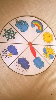 počasí Preschool Learning Activities, Kindergarten Math, Preschool Activities, Kids Learning, Art For Kids, Crafts For Kids, Kids Calendar, Weather Seasons, Learning Styles
