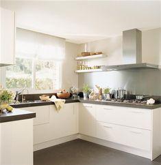 white kitchen- black granite