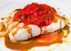 Bacalao con pimientos rojos