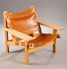 Kurt Østervig 1912-1986. Hvilestol af egetræ model 168 - DK, Herlev, Dynamovej