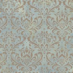 damask stencil reusable large wall stencil. I like this pattern and colors for the dining room.