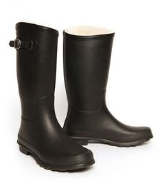 Look what I found on #zulily! Black Nelson Rain Boot - Women #zulilyfinds