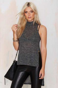 Asymmetric Sweater Top