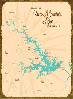 Smith Mountain VA Map  Wood Sign by LakeboundShop on Etsy