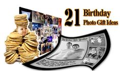 Creative 21st Birthday Gifts for Brother.  Personalized photo gift ideas for 21 year old brother. Photo collage, personalized pop art portraits, painting from photo and more..