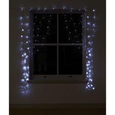 Wilko Curtain Lights LED Hanging White x 140 at wilko.com