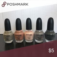 OPI for Sephora nude minis Great little nail polishes! Looking for a better home 😘 tried one of the colors maybe once on one nail...so lots more polish left!! Sephora Makeup