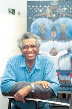 Dr.John Biggers (1924-2001) from North Carolina.  He is most famous for his paintings, murals and prints.