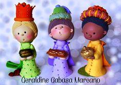 Reyes Magos. Porcelana fria Geraldine!!