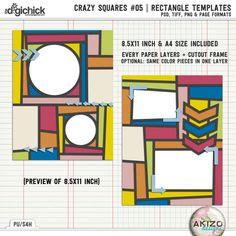 Crazy Squares #05 | Rectangle Templates