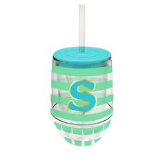 Monogram Stemless Wine Cup-S - Occasionally Made - Monogram Gifts - Great Gift Ideas for Her