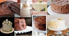 Não tem experiência, habilidade ou utensilios apropriados?? Com uma espátula e uma colher você decora o bolo...Confira as dicas Depois de montar o bolo deixe na geladeira enquanto prepara a cobertura.