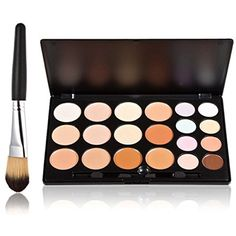 PIXNOR 20 Colors Makeup Concealer Palette Makeup Brush * Check out the image by visiting the link. (This is an affiliate link) #Makeup
