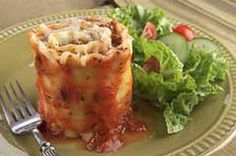 Lasagna Roll-Ups  4(174) Prep time: 20 min Total time: 1 hour 5 min Makes: 9 servings What You Need 1 lb. ground beef 1 jar (26 oz.) spaghetti sauce 1/4 cup A.1. Original Sauce (optional) 1 egg, lightly beaten 1 cup (8 oz.) ricotta cheese 1/2 cup KRAFT Grated Parmesan Cheese, divided 9 lasagna noodles, cooked, drained 2 cups KRAFT Shredded Low-Moisture Part-Skim Mozzarella Cheese, divided  Make It Preheat oven to 350°F. Brown meat in skillet on medium-high heat; drain. Combine spaghetti…