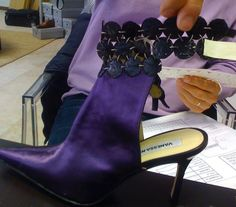 Final detail corrections on the samples #shoes #behindthesceens #purple #shoedesigner #love #madeinitaly #cfda #samples #collections #fashion #design