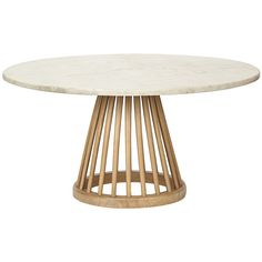 Tom Dixon Large Fan Table - Natural ($1,022) ❤ liked on Polyvore featuring home, furniture, tables, accent tables, coffee table, decor, spindle coffee table, marble top accent tables, spindle table and tom dixon