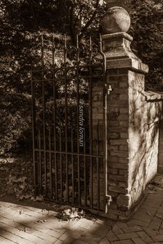 Excited to share the latest addition to my #etsy shop: Gate at the Cemetery http://etsy.me/2DI7XBD #art #photography #cemetery #gate #old #town #bricksidewalk #irongate #sepia