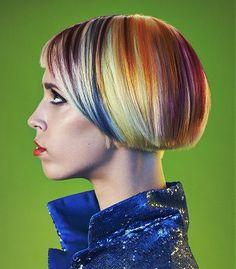 short blonde straight coloured multi-tonal multi-coloured bob haircut womens hairstyles for women