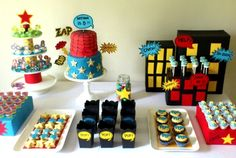 How great is this superhero dessert table!