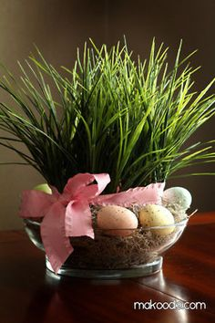 Easter inspiration - remember to plant the grass seed around Ash Wednesday