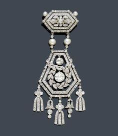 Belle Epoque diamond brooch