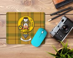 Rubber mousemat with Houston clan crest and tartan - from ScotClans