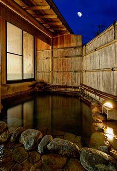 Onsen in Nagano, Japan Japanese Bath, Japanese House, Japanese Hot Springs, Nagano Japan, Serenity Now, Spring Resort, Japanese Architecture, Japan Travel, Dream Vacations