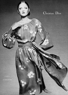 INGRID BOULTING  Christian Dior Ad  1971