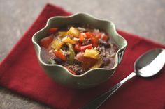 Barefeet In The Kitchen: Crockpot Stuffed Bell Pepper Soup