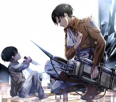 dude. 5 year old eren just killed someone.. and reveille's just all like yeah dat cool