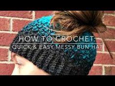 Quick and Easy Messy Bun Hat Video Tutorial - Amanda Saladin
