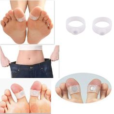 slim weight loss silicone magnetic toe ring