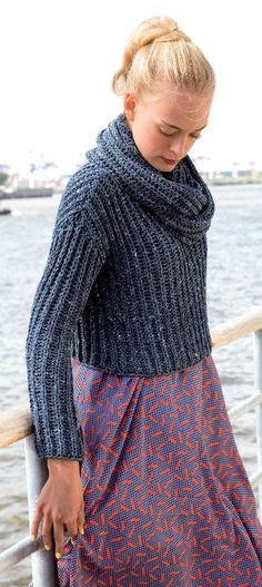 Sweaters and Loop Scarf in Rico Fashion Summer Denim - 314 - Leaflet. Discover more patterns by Rico at LoveKnitting. We stock patterns, yarn, needles and books from all of your favourite brands.