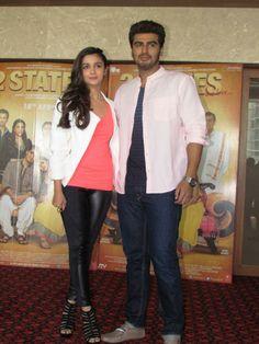 Alia Bhatt and Arjun kapoor promote '2 States'   PINKVILLA