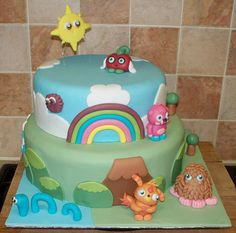 moshi monsters two tier cake by Paramount Cakes, via Flickr