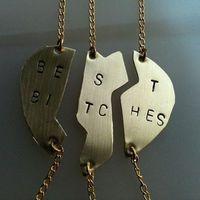 Mature Content ....Best Bitches Hand Stamped SPLIT Brass ,copper ,silver Heart Oxidized  Bracelet
