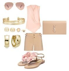 """Blooming blush"" by lladeinae on Polyvore featuring River Island, Chloé, Stella & Dot, LULUS, Ray-Ban, Yves Saint Laurent and Rupert Sanderson"