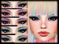 Second Life Marketplace - {C.C.M.} Confetti Eyeshadows n Lashes