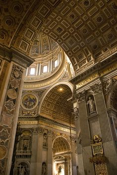 Entrance, St Peter's Basilica, Vatican City, Italy