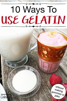 """Gelatin's profound role in nourishing and knitting together the human body makes it a supplement worth consuming on a daily basis. Plus, it's very versatile. Here's how to incorporate it into 10 daily foods, none of which are gummies or """"jello""""! Jello Gelatin, Beef Gelatin, Gelatin Recipes, Heart Healthy Recipes, Gourmet Recipes, Real Food Recipes, Healthy Foods, Stay Healthy, Healthy Life"""