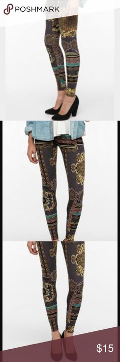 Urban Outfitters leggings Urban Outfitters brocade chain high rise leggings Urban Outfitters Pants Leggings
