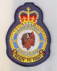 Royal Canadian Air Force 404 Sqn Crest Patch CP 140 Aurora | eBay