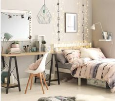 Teen Girl Bedrooms - A special and alluring compilation on teen room decor tips and tricks. For extra decor designs why not jump to the pin-link to read the summary 5590836048 immediately. Small Room Bedroom, Trendy Bedroom, Small Rooms, Modern Bedroom, Girls Bedroom, Bed Room, Master Bedroom, Contemporary Bedroom, Mirror Bedroom